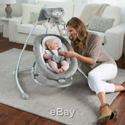 Ingenuity Inlighten 2-in-1 Cradling Swing/Portable Rocker f/Baby/Infant Townsend
