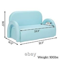 Kids Children PU Leather Chair Sofa Seat Nursery Toddler Baby Bed Armchair Game