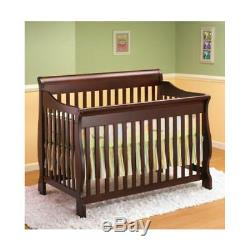 Lil Angels 3-in-1 Naples Convertible Baby Wood Crib Espresso