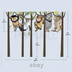 Max and Monsters Hanging on the trees Where the Wild Things Are Wall Decal Stick