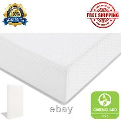 Memory Foam Toddler Mattress Baby Cradle Cover Crib Support Bed in a Box White