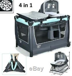 Mobile Baby Crib Playpen Infant Nursery Portable Playard Bed Cradle Bassinet New