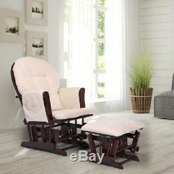 Ottoman Set Baby & Lounge Chair Glider Nursery Relax Rocking Chair with Foot Rest