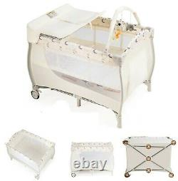 Portable Baby Crib Folding Bassinet With Changing Table Infant Foldable Bed New