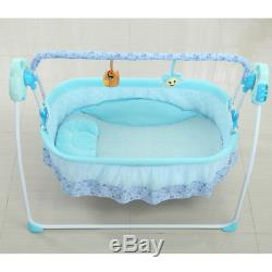 Remote Control Electric Swing Baby Crib Cradle Bassinet Music Swing Sleeping Bed