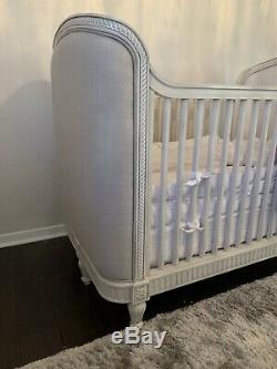 Restoration Hardware Baby & Child Belle Upholstered Crib, Antique Grey Mist