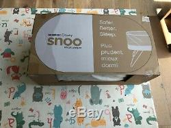 SNOO SMART SLEEPER BY HAPPIEST BABY with 6 SWADDLES, 3 SHEETS & LEG LIFTERS
