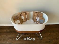 SNOO Smart Sleeper Bassinet by Happiest Baby With Extra Accessories