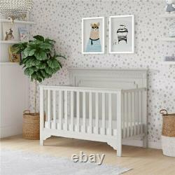 Safety 1st Heavenly Dreams Deluxe 2-in-1 Baby Crib and Toddler Mattress in White