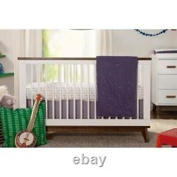 Scoot 3-in-1 Convertible Crib & Toddler Bed Conversion Kit White/Walnut