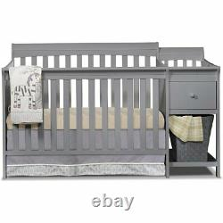 Sorelle Florence Crib and Changer in Gray