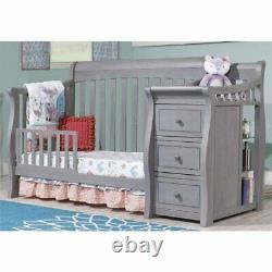Sorelle Princeton Elite Crib and Changer in Weathered Gray