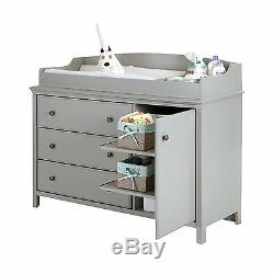 South Shore Cotton Candy Changing Table with Removable Changing Station, Gray