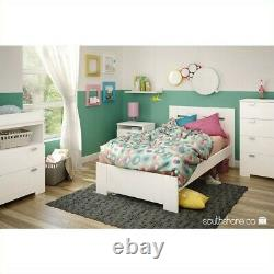 South Shore Reevo Changing Table with Storage in Pure White