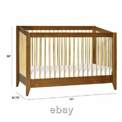 Sprout 4-in-1 Convertible Crib & Toddler Bed Conversion Kit Chestnut/Natural