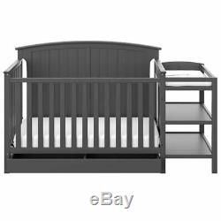 Storkcraft Steveston 3 Piece Convertible Crib Set in Gray