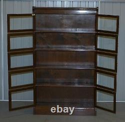 Suite Of Four Minty Oxford Legal Library Modualr Adjustable Stacking Bookcases