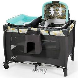 Travel Baby Crib Cot Nursery Center Playard Play With Bassinet Portable Bed 4in1