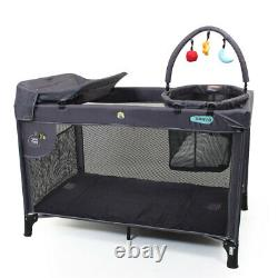 Veebee Sierra Baby/Newborn Foldable/Portable Cot with Bassinet/Bag/Toy-bar Navy