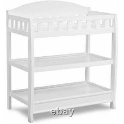 White Changing Table with Pad Child Baby Infant Diaper Nursery Furniture Home